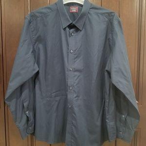 Untuckit Mens 3XL Long Sleeve Button Front Shirt